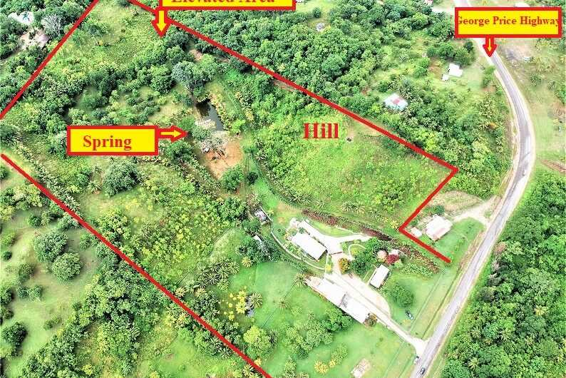 CY88: REDUCED! Home on 16 Acre Estate, 3 buildings with Natural Spring! Cayo