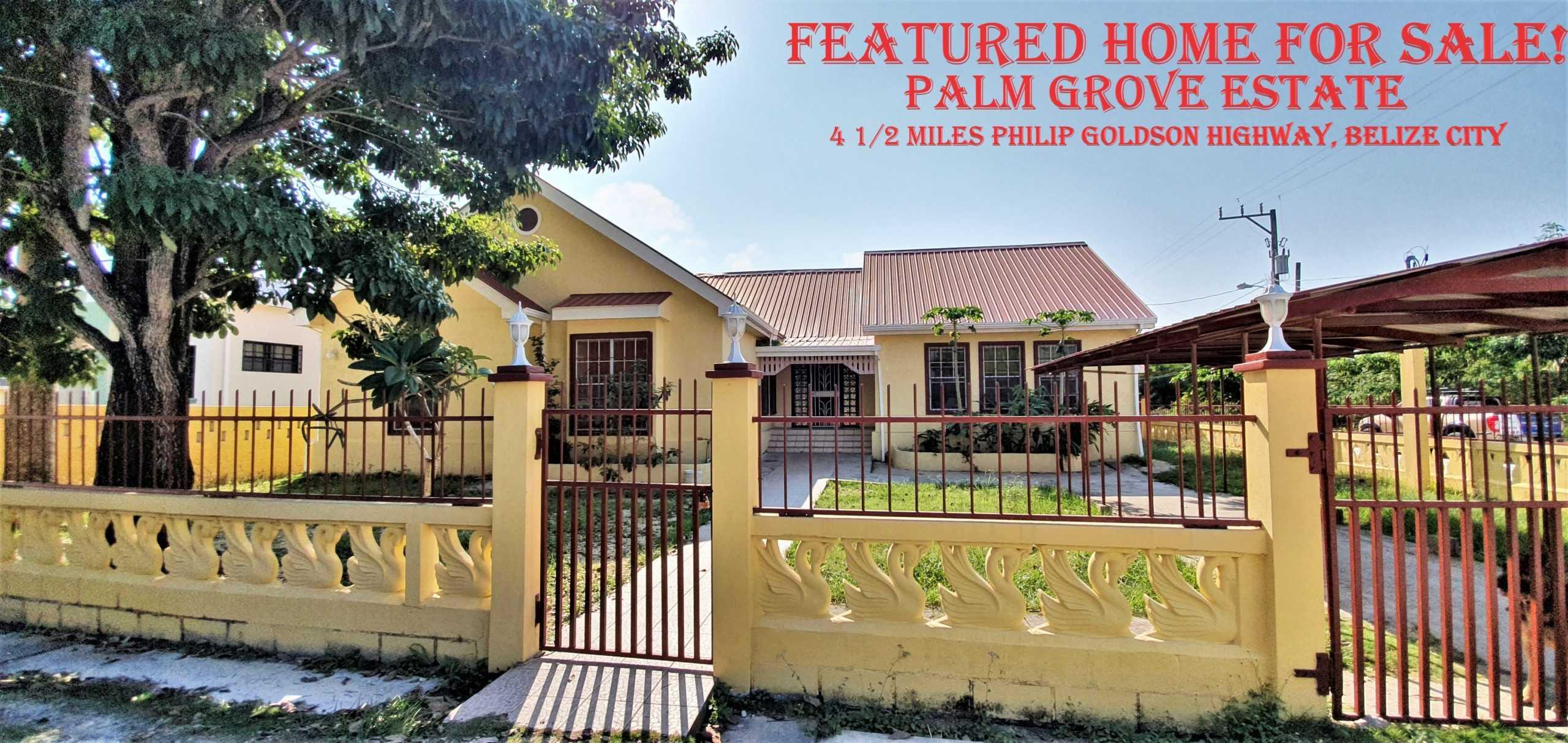 BZ153: 5 Bedroom Bungalow Home on Large Corner Lot in Palm Grove Estate, Belize…