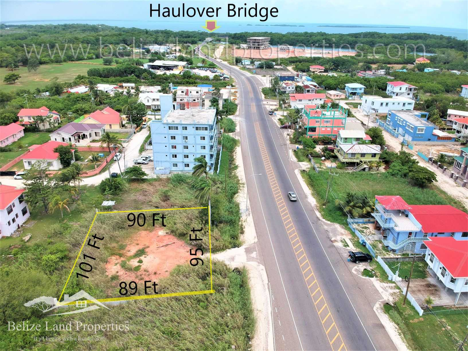 BZ151: REDUCED! Commercial Lot with 95 Ft along Philip Goldson Highway…