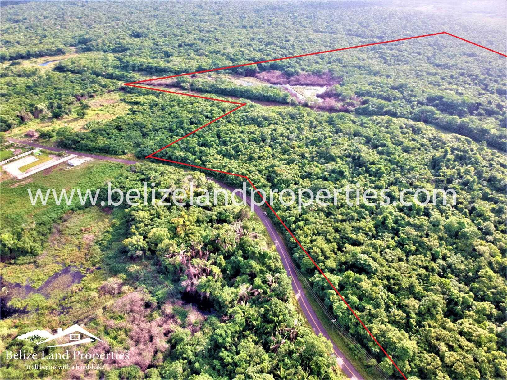 BZ150: +-122 Acres 5 miles from Sandhill Village along Old Northern Highway, Belize District!