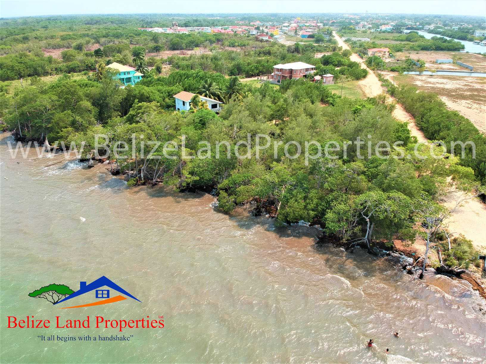 BZ155: 0.7 Acre Seafront in Vista Del Mar For Sale, Belize!