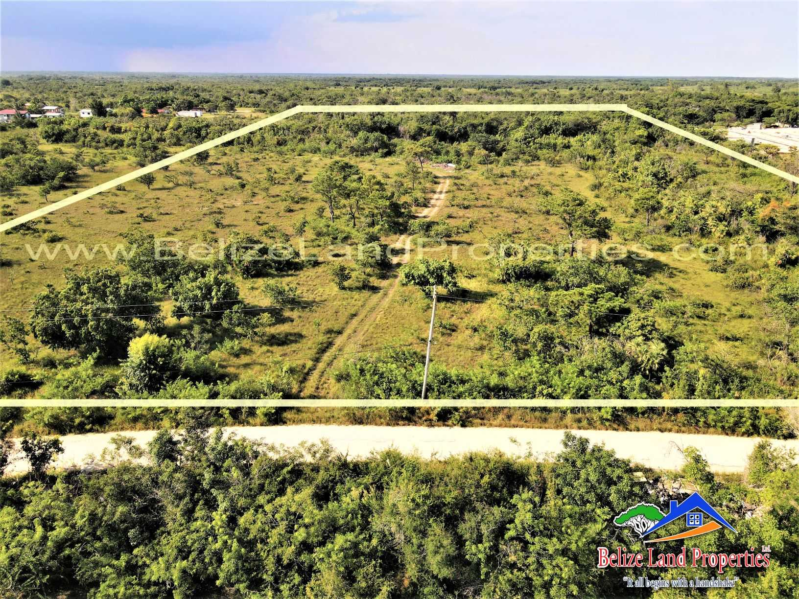 BZ157: 19.90 Acres Only 0.6 Miles off The Philip Goldson Highway, near Los Lagos Belize District! A Belize Real Estate For Sale Great For Commercial or Residential Potential