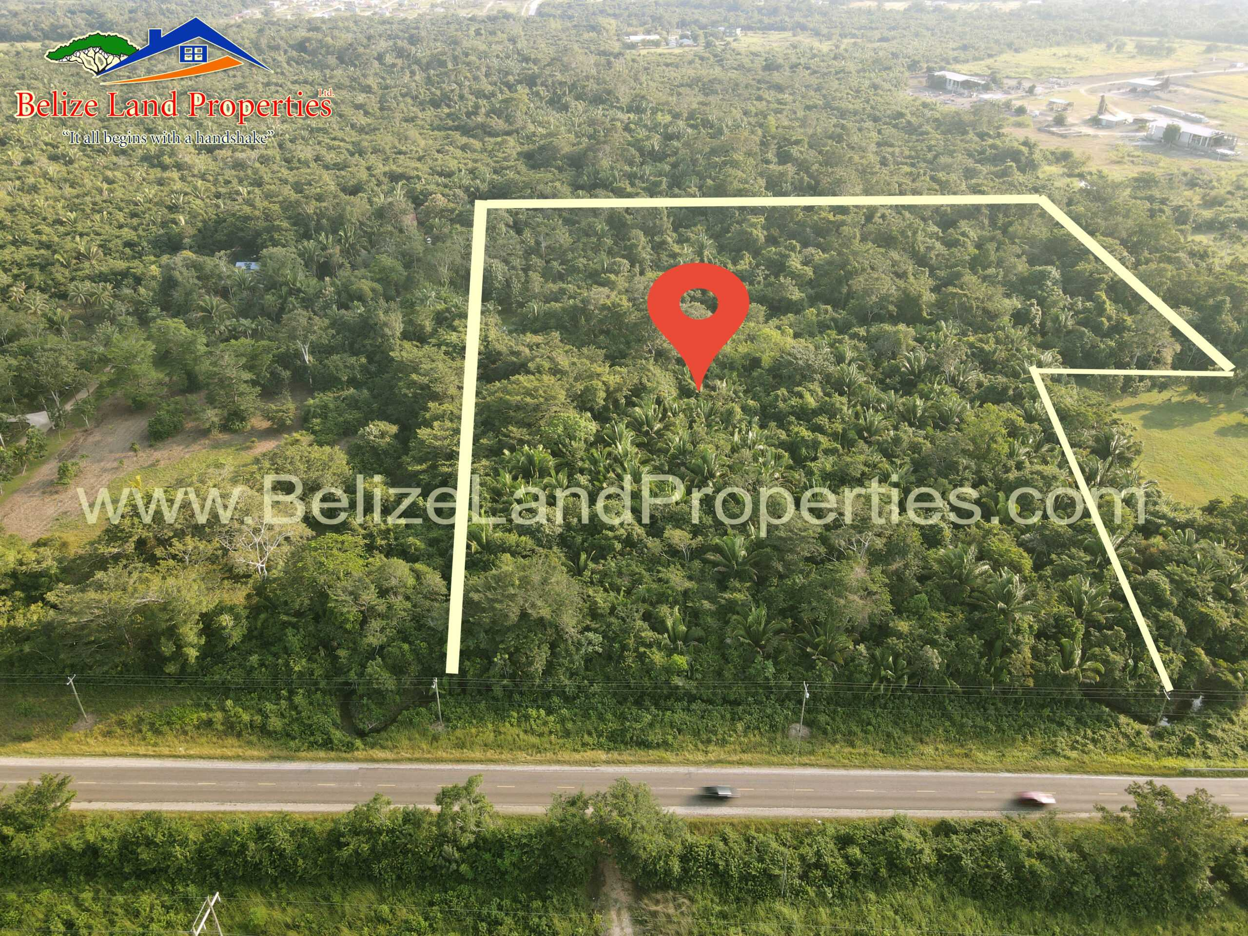 CY107- 20 Acres at Mile 44 George Price Highway Near Belmopan Airport, Cayo District! Belmopan Land For Sale! Cayo Real Estate For Sale! Belize Real Estate