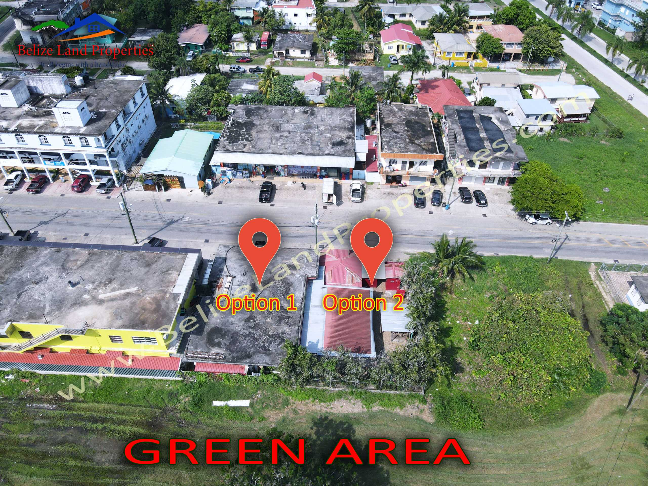 CY108: Option 1-1 Prime Commercial Property with small wooden structure for sale on Nimlipunit Street in Belmopan City, Cayo!