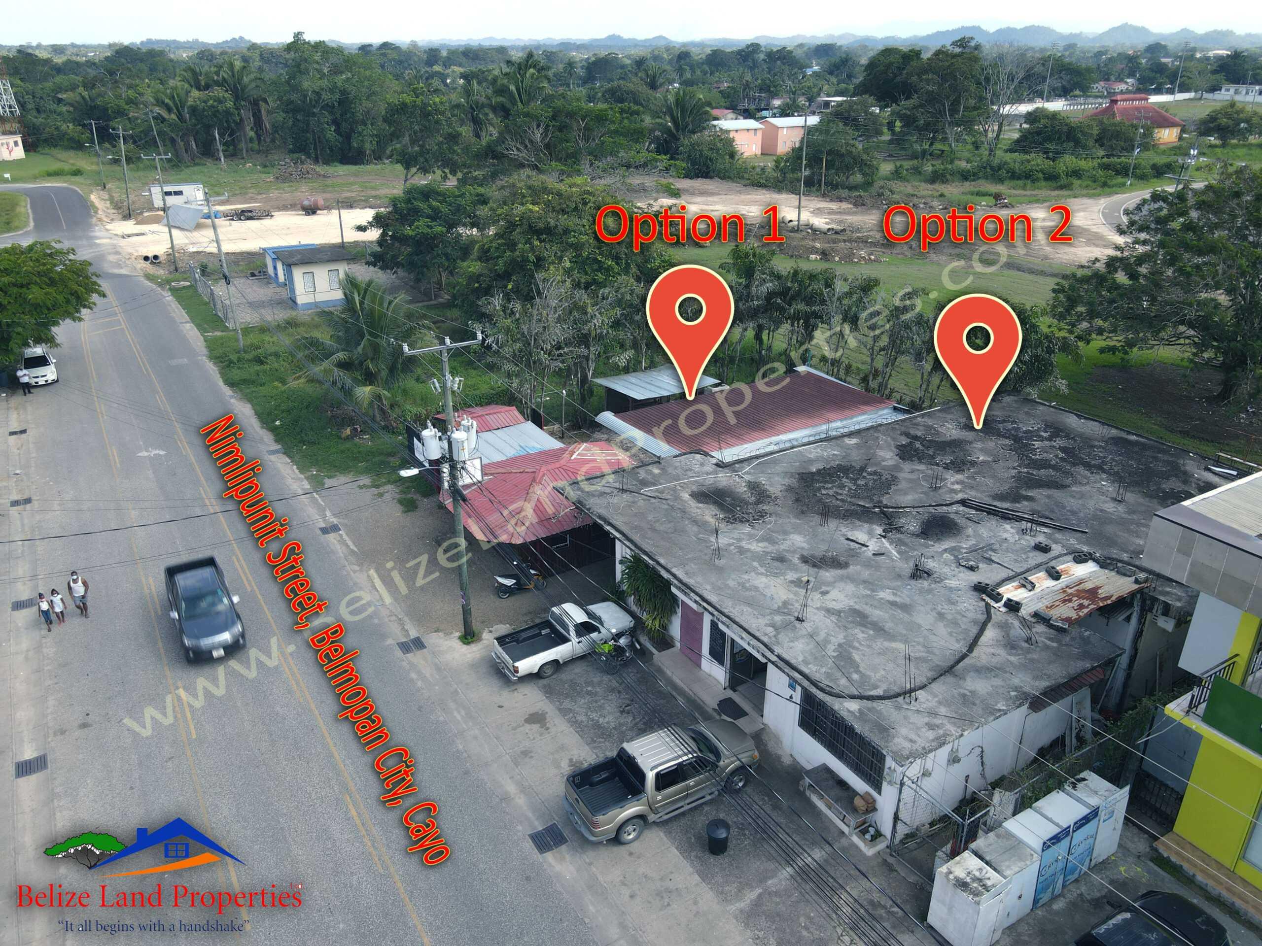 CY109: Option 2- Commercial Rental Income Property For Sale in Belmopan City on Nimlipunit Street, Cayo! Belize Real Estate Land Sales Belize