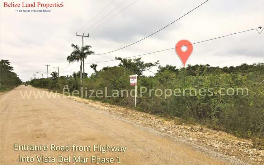 BZ161: Vacant Lot along main entrance of Vista Del Mar Development, Ladyville, Belize District! Real Estate in Belize for sale!