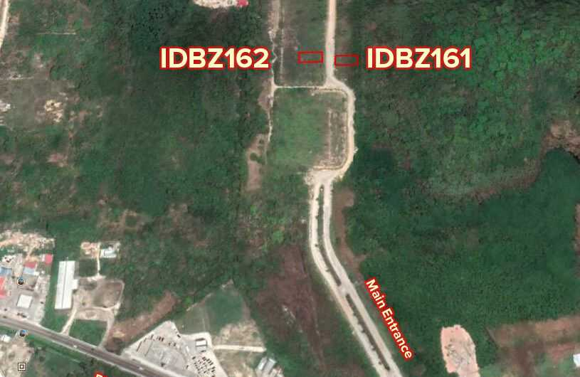 BZ162Commercial/Residential Vacant Lot along entrance of Vista Del Mar Development, Phase 1, Ladyville, Belize!