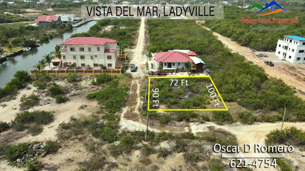BZ164: Large Corner lot near the Sea in Vista Del Mar Phase 2, Ladyville, Belize!