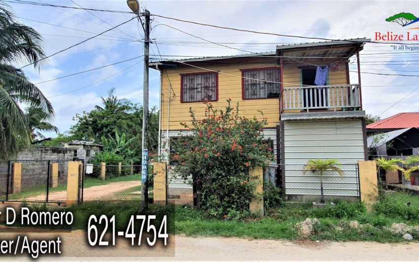 BZ165: Affordable 2-Story Home located on Butterfly Street, Port Area, Belize City!